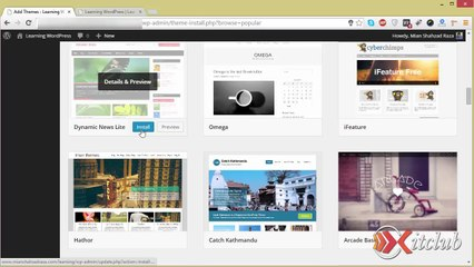 06 - Manage Themes - WordPress 4.0 Tutorial in Urdu/Hindi