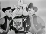 VINTAGE 1949 SUGAR CRISP CEREAL COMMERCIAL ~ SHERIFF & THE THIEVES