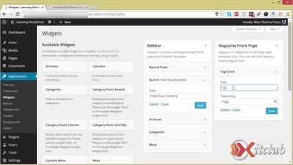 07 - Manage Widgets - WordPress 4.0 Tutorial in Urdu/Hindi