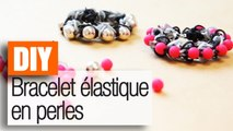 Faire un bracelet élastique Shamballa en perles - Tuto DIY Rainbow Loom