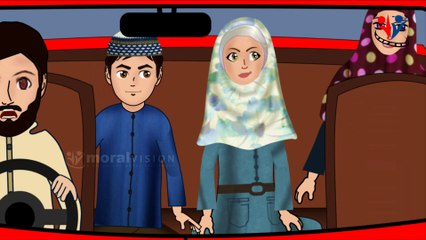 Dua when riding vehicle - Abdul Bari Islamic cartoon for children