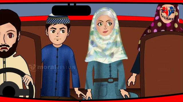 Dua when riding vehicle - Abdul Bari Islamic cartoon for children