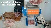 máy thái thịt gia đình, máy thái tai heo làm nem, máy cắt thịt bò tái