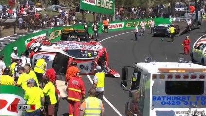 V8 Supercars Bathurst 2014 Practice Huge crash Luff Lowndes