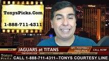 Tennessee Titans vs. Jacksonville Jaguars Free Pick Prediction NFL Pro Football Odds Preview 10-12-2014