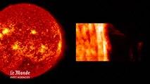 Eruption solaire massive filmée par la NASA