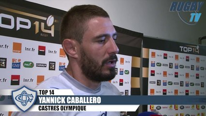 TOP 14 apres match TOULON-CASTRES - ROLAND-TALES-DULIN-CABALLERO