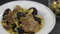 Tajine d'agneau pruneaux-amandes - Recette Marocaine : CuisineAZ