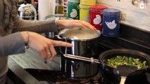 Recette des vermicelles de riz aux légumes de printemps et au saumon en sucré salé