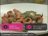 Recette de chef : poêlée de calamars au piment d'espelette et salade cuite de roquette