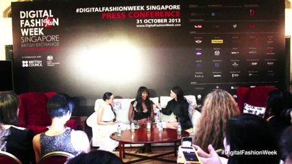 Press Conference Digital Fashion Week Singapore 2013