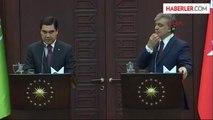 3cumhurbaşkanı Gül ile Türkmenistan Cumhurbaşkanı Berdimuhamedov Ortak Basın Toplantısı Düzenledi
