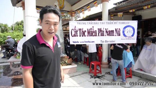 Lớp học cắt tóc Tomiluc thực hành và từ thiện tại Tiền Giang