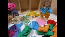 Giydir çıkar kukla set giydirmeli oyuncak kukla Hesaplı Dükkan