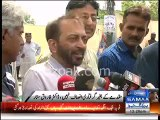 At one side MQM Nadeem Nusrat saying Altaf Hussain wasn't arrested but Farooq Sattar saying that Altaf Arrest is not justice