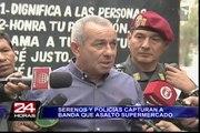 Surco: la policía capturó a avezados delincuentes que asaltaron supermercado