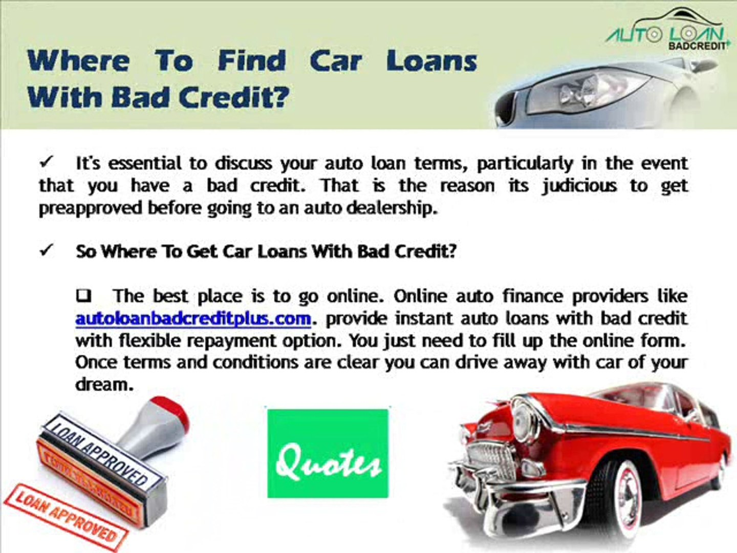 Car Loans for People with a 500 Credit Score