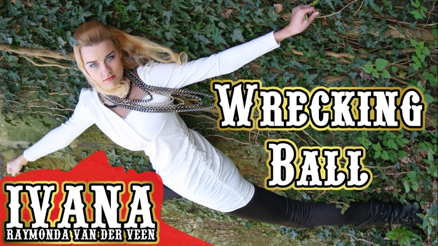 """Wrecking Ball"" - Miley Cyrus (Cover Official Music Video by Ivana) + Lyrics"