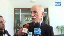 Mohamed Hassad s'entretient avec le président de la Fédération Internationale des Ligues de l'Homme