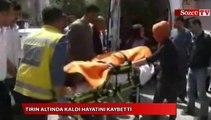 Tırın aldında kalan inşaat mühendisi yaşamını yitirdi