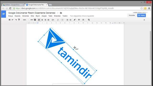 Google Dokümanlar İle Resim Düzenleme İşlemleri Nasıl Yapılır