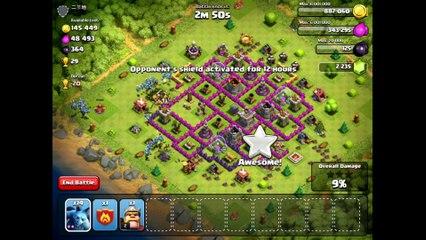 100 Minion Attack Clash of Clans
