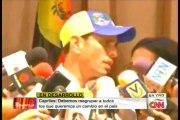 """Capriles: """"Es Nicolás Maduro quien le ha dado sepultura al diálogo"""""""