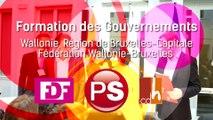 Formation des Gouvernements : Wallonie, Région de Bruxelles-Capitale, Fédération Wallonie-Bruxelles