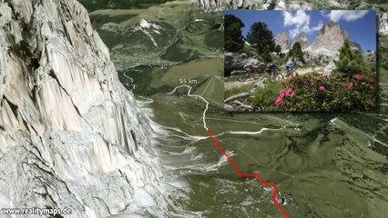 2014 3D Track 62 km Südtirol Sellaronda HERO - Passaggio Sourasass