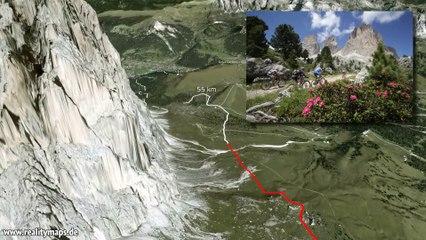 2014 3D Track 62 km Südtirol Sellaronda HERO - Passaggio Pralongià