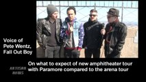 FALL OUT BOY PETE WENTZ TALKS PARAMORE COLLABORATION, COMPETITION, MONUMENTOUR
