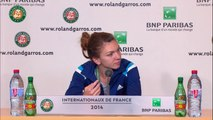 Simona Halep - Press conference  2014 French Open SF
