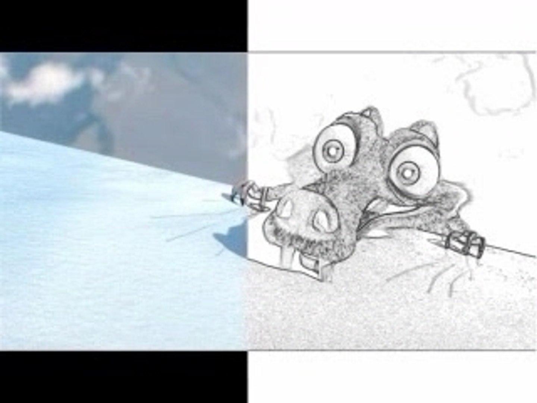 Auto Draw: How to draw Scrat (Ice Age)
