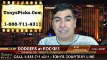 MLB Pick Colorado Rockies vs. LA Dodgers Odds Prediction Preview 6-7-2014