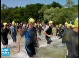 Triathlon des lacs : le départ du sprint