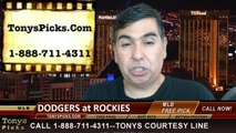 MLB Odds Colorado Rockies vs. LA Dodgers Pick Prediction Preview 6-8-2014