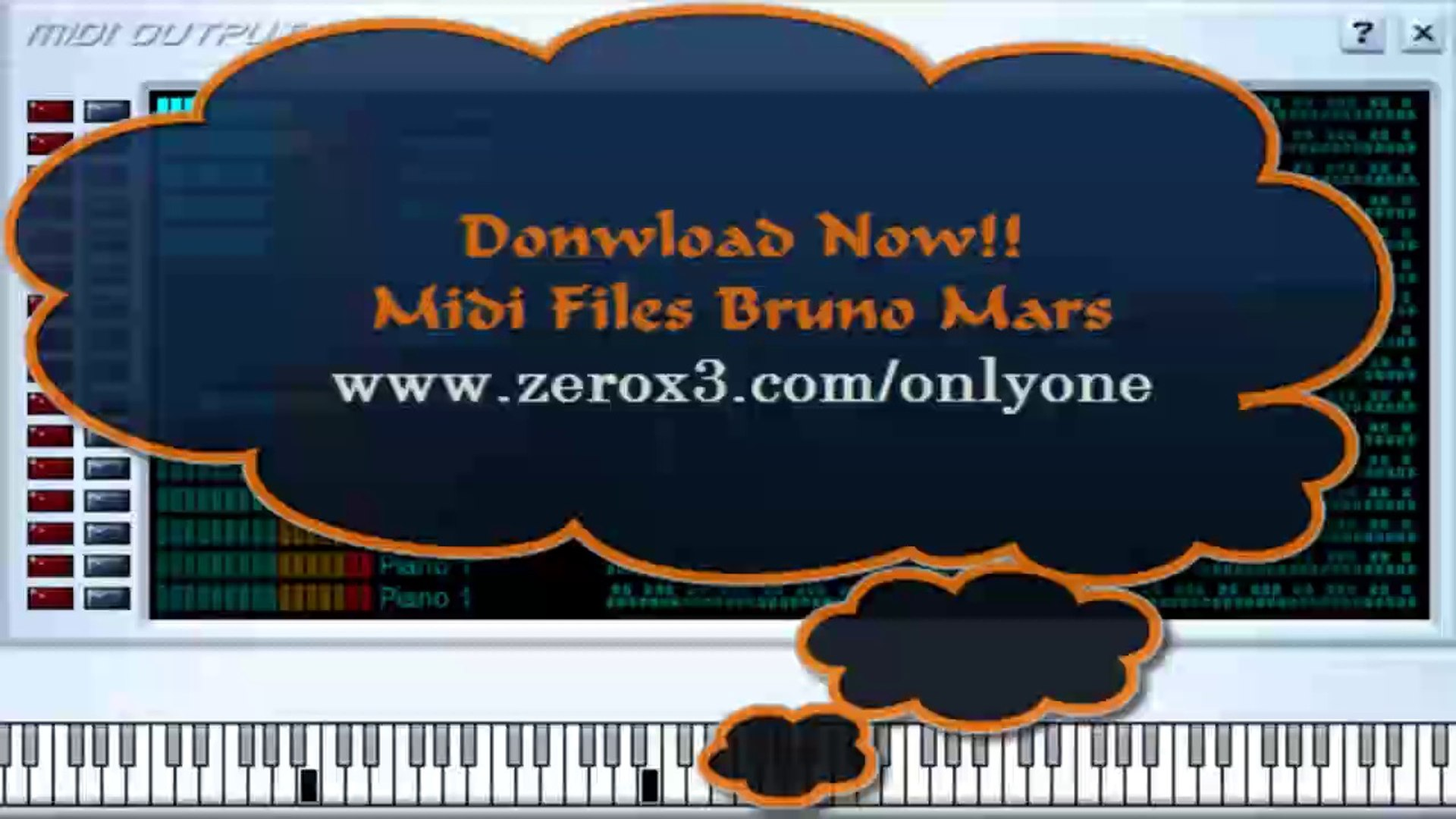 The Lazy Song - Bruno Mars - Midi File (OnlyOne)