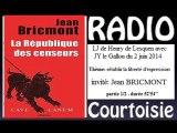 """RC 2014.06.02 Jean Bricmont """"La République des censeurs"""" 1/2"""