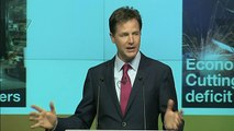 Clegg: Lib Dems will not support austerity forever