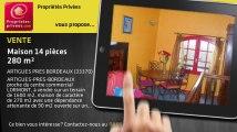 A vendre - maison - ARTIGUES PRES BORDEAUX (33370) - 14 pièces - 280m²