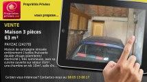 A vendre - maison - PAYZAC (24270) - 3 pièces - 63m²
