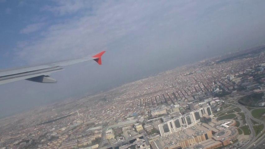 Décollage et survol d'Istanbul