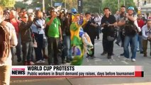Protests, strikes loom over Brazil just days before World Cup
