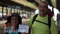 Gérard et Christiane, Gare de Bordeaux