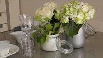 Détourner des pots en verre en vases chics