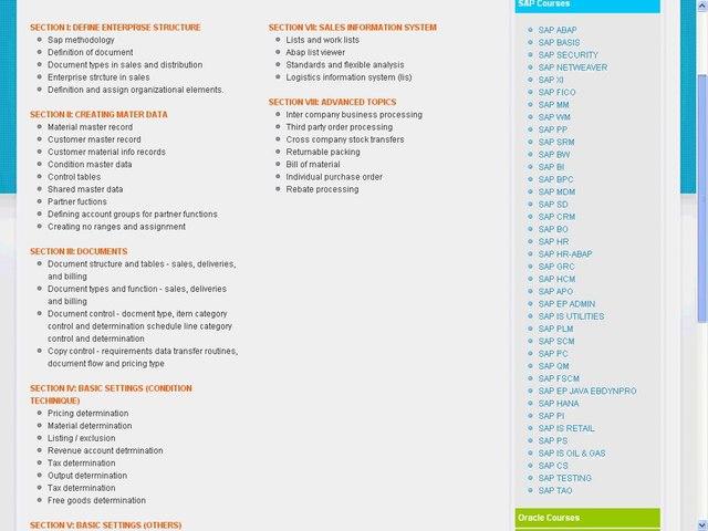 SAP SD (Sales & Distribution) Course Content | SAP SD Training Online |  Training Aspirants