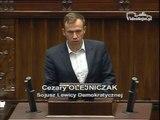 Poseł Cezary Olejniczak - Wystąpienie z dnia 29 maja 2014 roku.