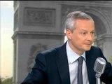 """Le Maire: """"l'UMP est déjà à la ramasse, il ne faudrait pas qu'on soit en plus à la rue"""" - 11/06"""