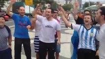 Les supporters argentins à Copacabana