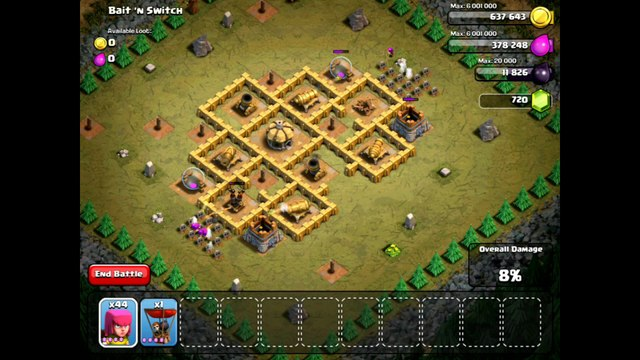 Clash Of Clans Level 39 – Bait 'n Switch